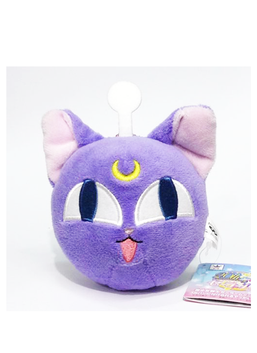 Sailor Moon Luna-P Black Guardian Cat Plush Doll Ball Chain