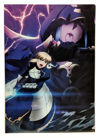 UFOTable Cafe Fate/stay night: Heaven's Feel Battle Saber vs Medea Action Visual A4 Clear File