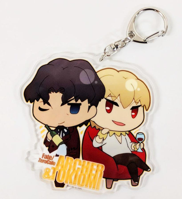 Fate/Zero Cafe Collab Exclusive Archer Gilgamesh & Tohsaka Tokiomi Acrylic Charm Key Chain