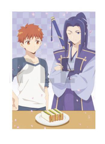 Today's Menu for the Emiya Family x UFOtable Cafe Shirou & Kojiro Character A4 Clear File
