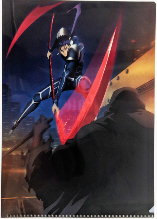 UFOTable Cafe Fate/stay night: Heaven's Feel Battle Lancer vs Assassin Action Visual A4 Clear File