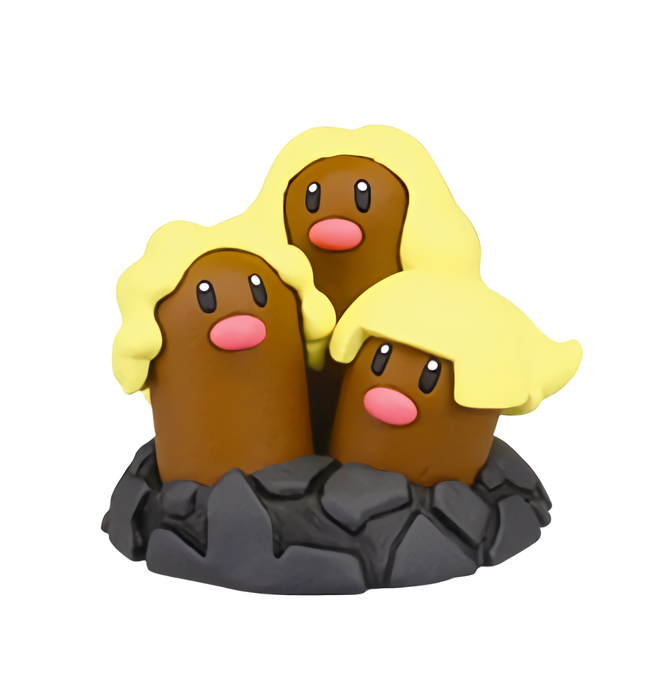 Pokemon Sun & Moon - Dugtrio - Mini Capsule Figure Toy