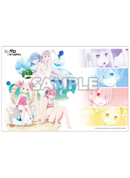 Re: Zero - Rem, Ram, Emilia, Beatrice - Bushiroad Event Exclusive Character Play Mat