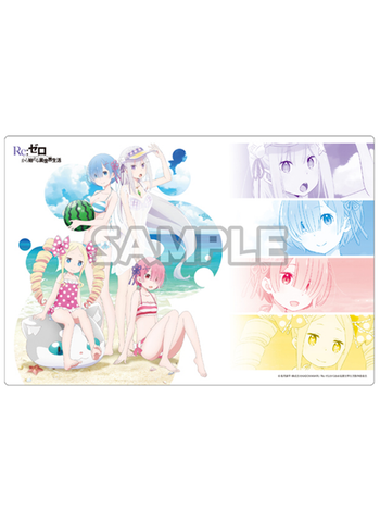 Re:Zero - Rem, Ram, Emilia, Beatrice - Bushiroad Event Exclusive Character Play Mat