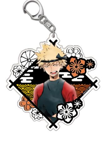 My Hero Academia Katsuki Bakugo Exclusive Diamond Watercolor Style Acrylic Key Chain