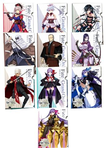 Fate Grand Order Collab Cafe Epic of Remnant A4 Clear File Type B *SET 10PCS*