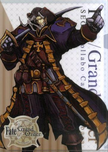 Fate Grand Order Collab Cafe Epic of Remnant Rider Christopher Columbus A4 Clear File Type D FGO