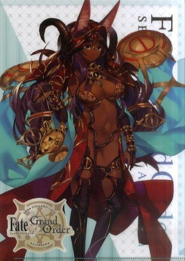 Fate Grand Order Collab Cafe Epic of Remnant Caster Queen of Sheba A4 Clear File Type D FGO