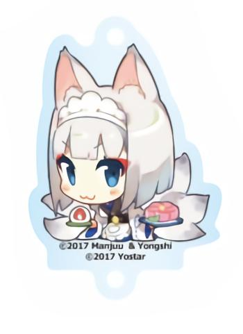 Azur Lane Cafe Kaga Character Acrylic Key Holder Mascot