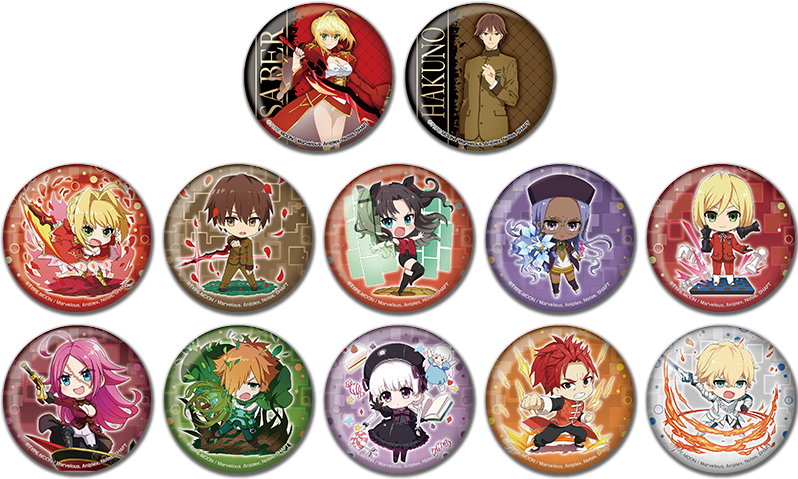 Fate/EXTRA Last Encore Rin Tohsaka Collab Exclusive Can Badge Button Pin