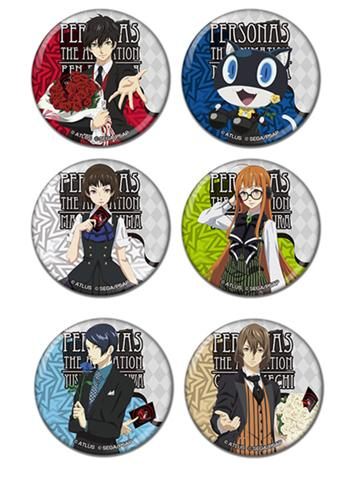 Persona 5 Collab Cafe Exclusive Can Badge Pin Drawn