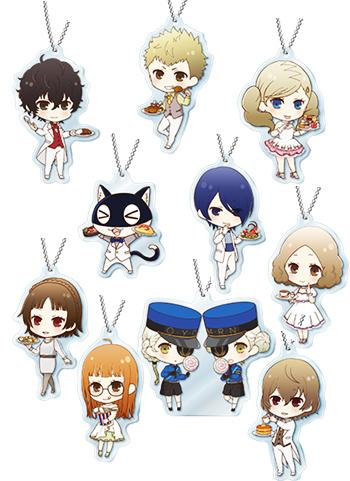 Persona 5 Collab Cafe Exclusive Acrylic Key Chain Mascot Type B