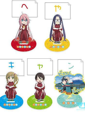 Yuru Camp Pop-Up Store Event Exclusive Character Acrylic Memo Stand Holder