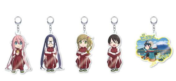Yuru Camp Pop Up Store Character Acrylic Key Chain