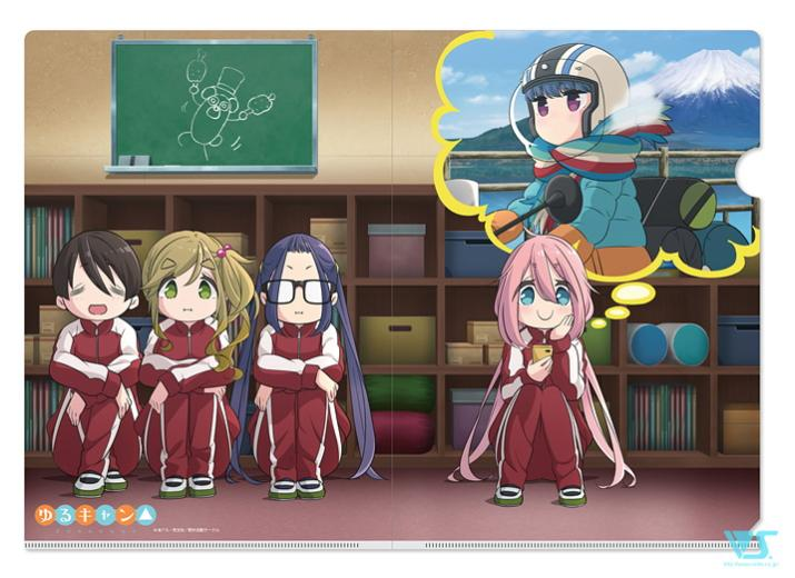 Yuru Camp Pop Up Store Full Cast Exclusive Character A4 Clear File
