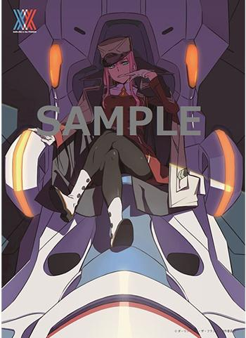 Darling in the Franxx Zero Two Exclusive Character Acrylic Plate Visual Board Darlifra