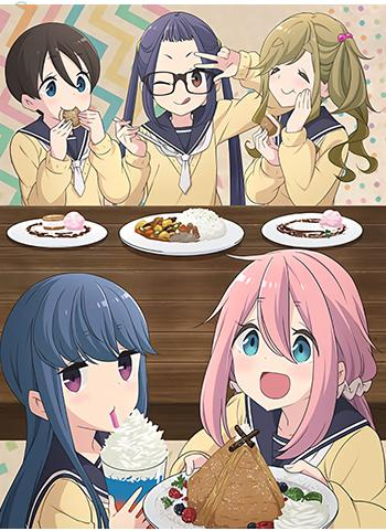 Yuru Camp Cast Collab Cafe Exclusive Character Giant A3 Clear File