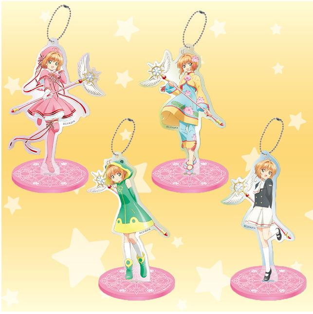 Cardcaptor Sakura Kinomoto Black & White Outfit Character Acrylic Stand Key Chain