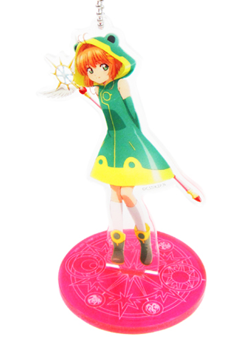 Cardcaptor Sakura Kinomoto Green Outfit Character Acrylic Stand Key Chain
