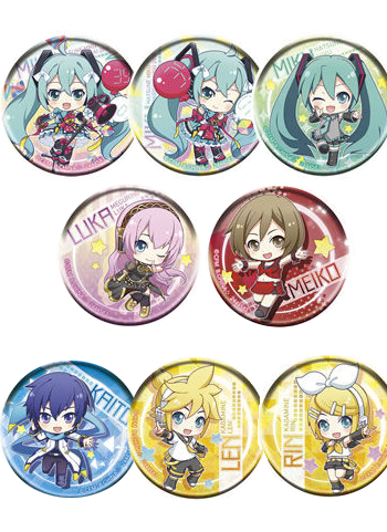 Vocaloid Project Racing 2018 Characters Capsule Can Badge