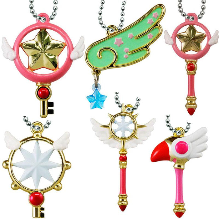 Cardcaptor Sakura Clear Card Character Capsule Toy Key Chain Mascot Set of 6