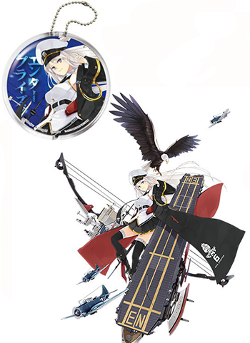 Azur Lane Enterprise - Character Capsule Clear Key Chain Mascot w/ AR Function (Takara Tomy Arts)