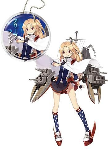 Azur Lane Cleveland Character Capsule Clear Key Chain Holder w/ AR Function