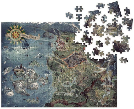 The Witcher 3: Wild Hunt - Witcher World Map - Dark Horse Comics Puzzle