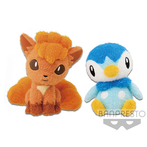 "Pokemon Sun and Moon Vulpix & Piplup 10"" Character DX Plush Toy"