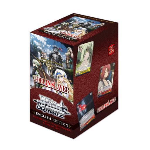 Weiß Schwarz Goblin Slayer English 4 Booster Box + Promote Play Mat Bundle