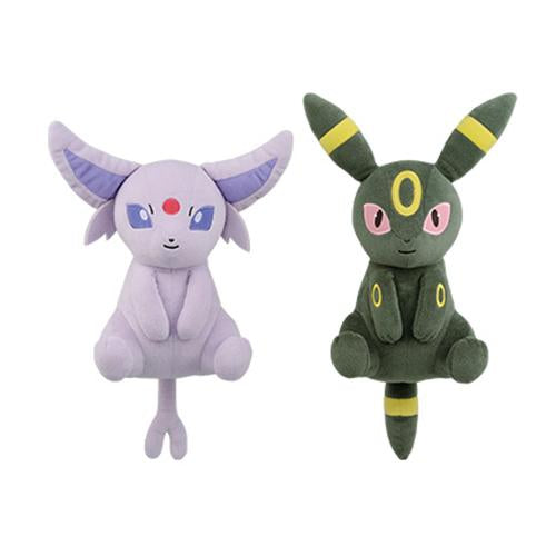 "Pokemon Espeon & Umbreon 9"" I LOVE EEVEE Relaxed - DX Plush  Toy"