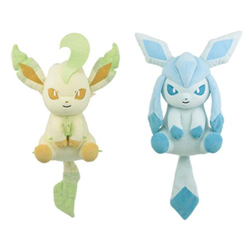 "Pokemon Leafeon & Glaceon  9"" I LOVE EEVEE Relaxed - DX Plush  Toy"