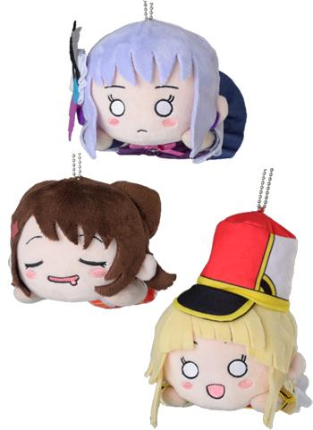 BanG Dream! Bandori Vocalist Nesoberi Ball-Chain Plush Key Chain Mascot V.2