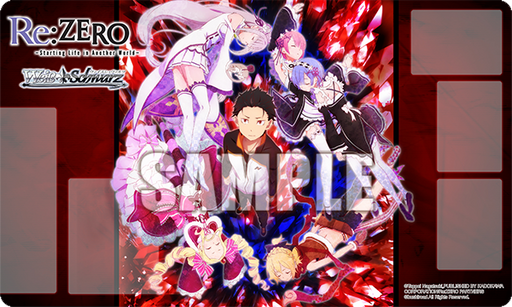 Re: Zero Full Cast Weiss Schwarz Character Promo Rubber Play Mat