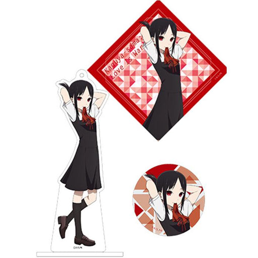 Love is War Kaguya AnimeJapan Aniplex Acrylic Stand Key Chain & Can Badge & Sticker *SET*