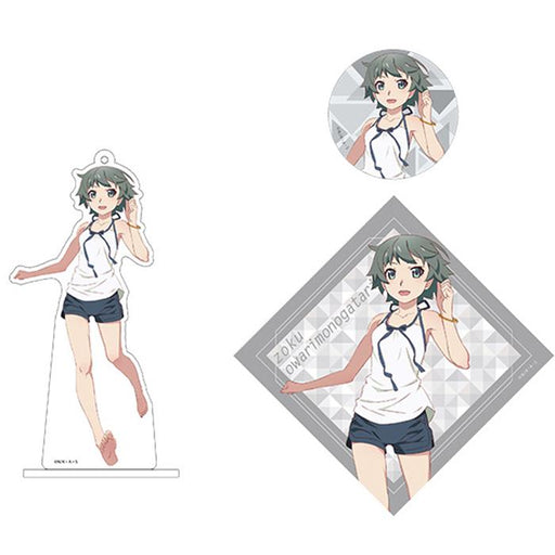 Bakemonogatari Sodachi Oikura AnimeJapan Aniplex Acrylic Stand Key Chain & Can Badge & Sticker *SET*