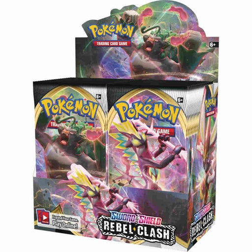 Pokemon TCG: Sword and Shield Rebel Clash Booster Display