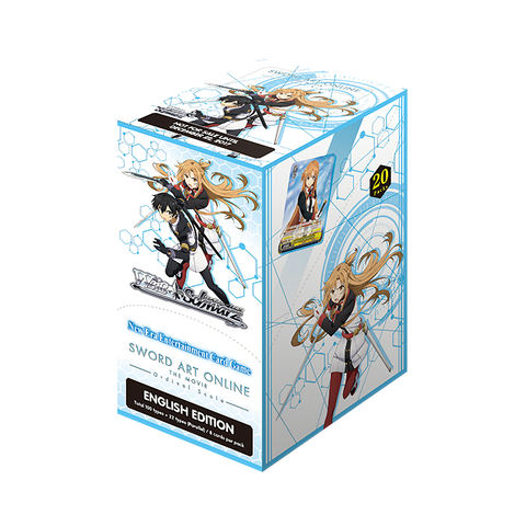 Weiss Schwarz: Sword Art Online Ordinal Scale Booster Box SAO 1 Box / 4 Boxes w/Play Mat