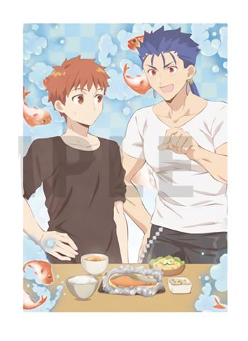 Today's Menu for the Emiya Family x UFOtable Cafe Character A4 Clear File V.2