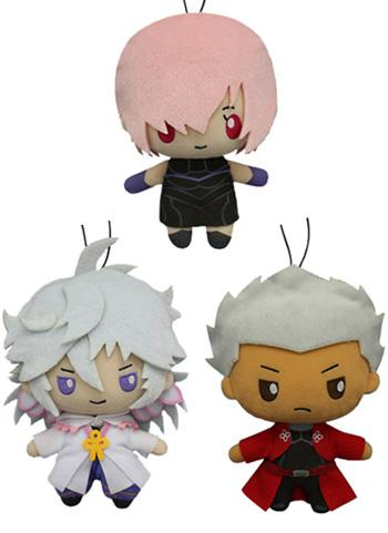 Fate Grand Order Sanrio - Mash Merlin Emiya - Prize Plush Toy Doll *Set of 3* FGO