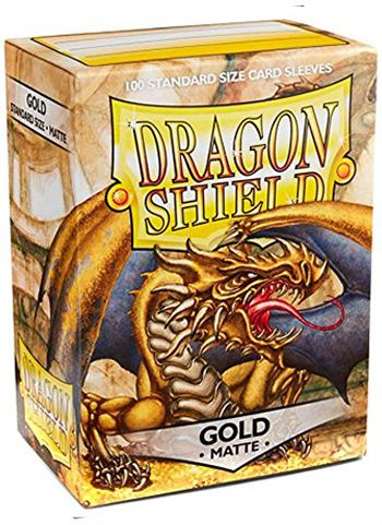 Dragon Shield Standard Mat Character Sleeves Gold (100 COUNT)