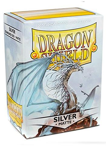 Dragon Shield Standard Mat Character Sleeves Silver (100 COUNT)