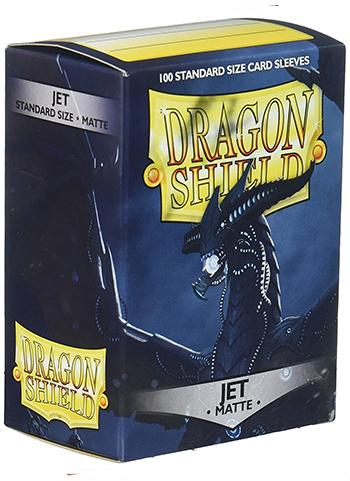 Dragon Shield Standard Mat Character Sleeves Jet (100 COUNT)