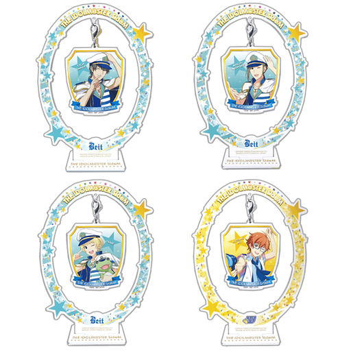 "Idolmaster SideM - Units  Beit & ""W"" - Character Acrylic Stand with Hanging Charm Vol.4"