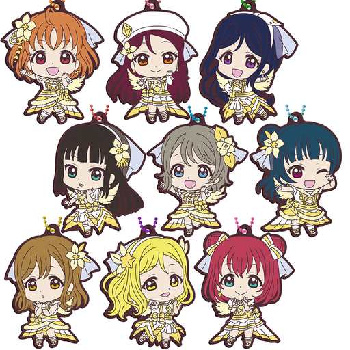Love Live! Sunshine!! - Aqours Next Sparkling - Character Rubber Swing Key Chain Mascot Vol.16