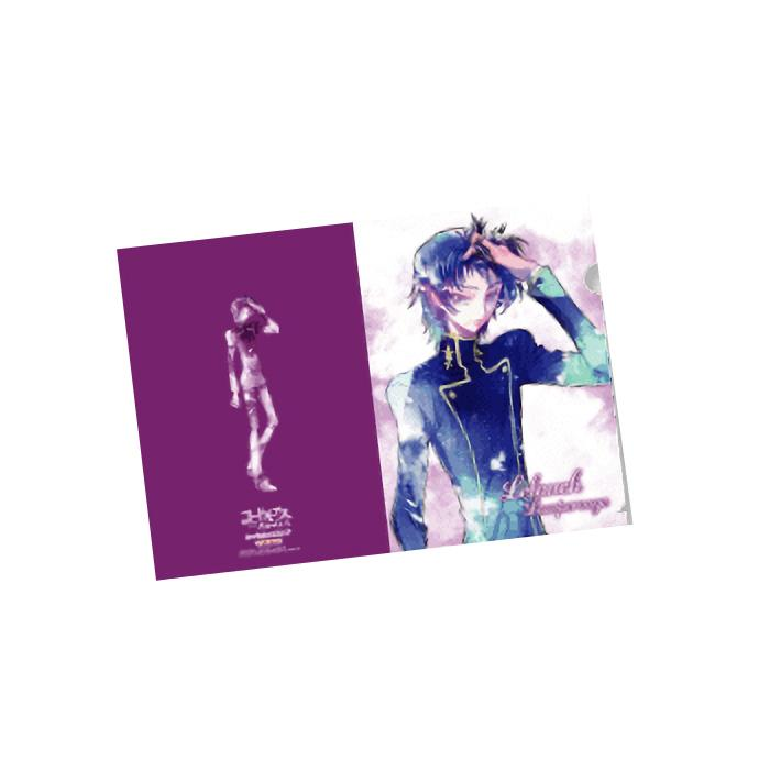 Code Geass Lelouch & Suzaku Cafe Exclusive Character A4 Clear File Set of 3