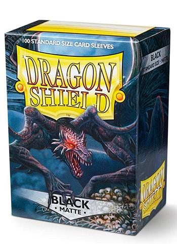 Dragon Shield Standard Mat Character Sleeves Black (100 COUNT)