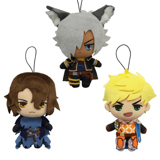 Plush toy of Vane, Siegfried & Eustace.