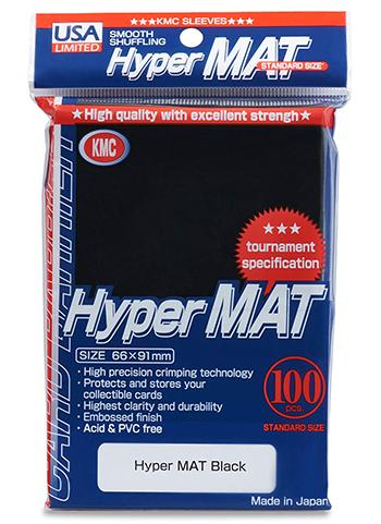 KMC Standard Sized Hyper Mat Black (100 COUNT) USA Distribution
