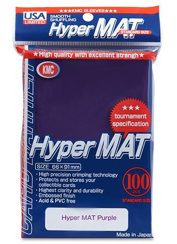 KMC Standard Sized Hyper Mat Purple (100 COUNT) USA Distribution